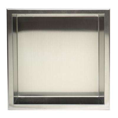 12 in. x 12 in. x 4 in. Niche in Brushed Stainless Steel