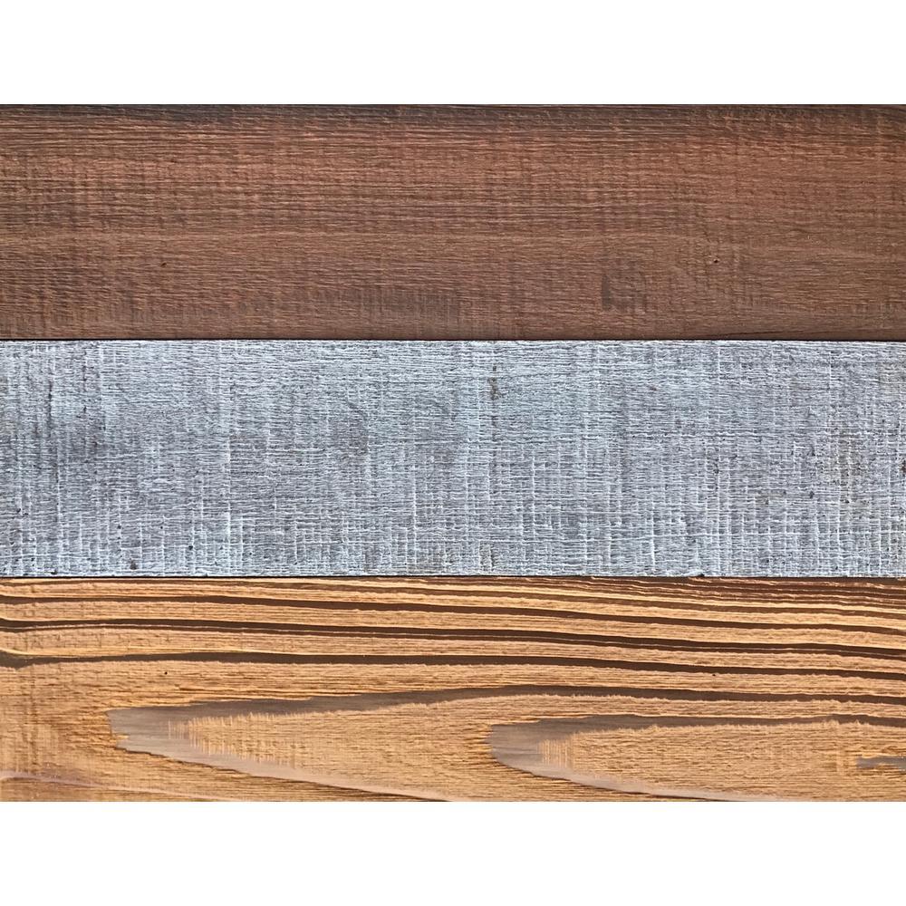 3D Barn Wood 50/50, 5/16 in. x 9 in. x 12