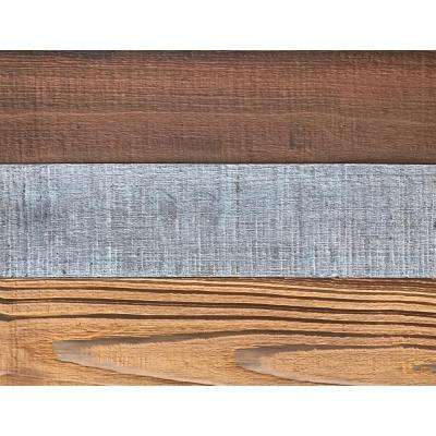 3D Barn Wood 50/50, 5/16 in. x 9 in. x 12 in. Decorative Wall Planks in Mixed Color, Sample / Picture Frame