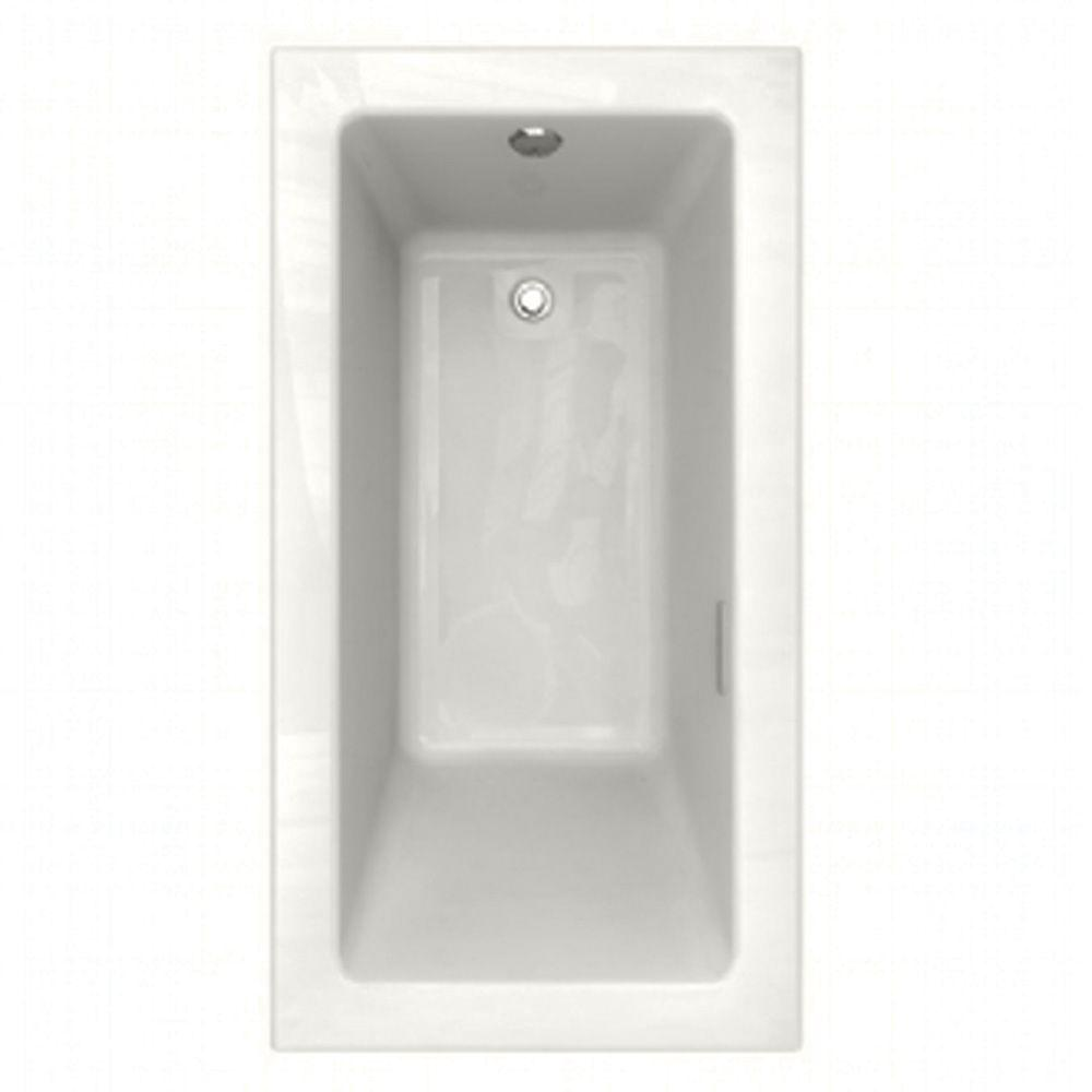 American Standard Studio EverClean Integral Tile Flange 5 ft. x 32 in. Air Bath Tub with Right Drain in White-DISCONTINUED