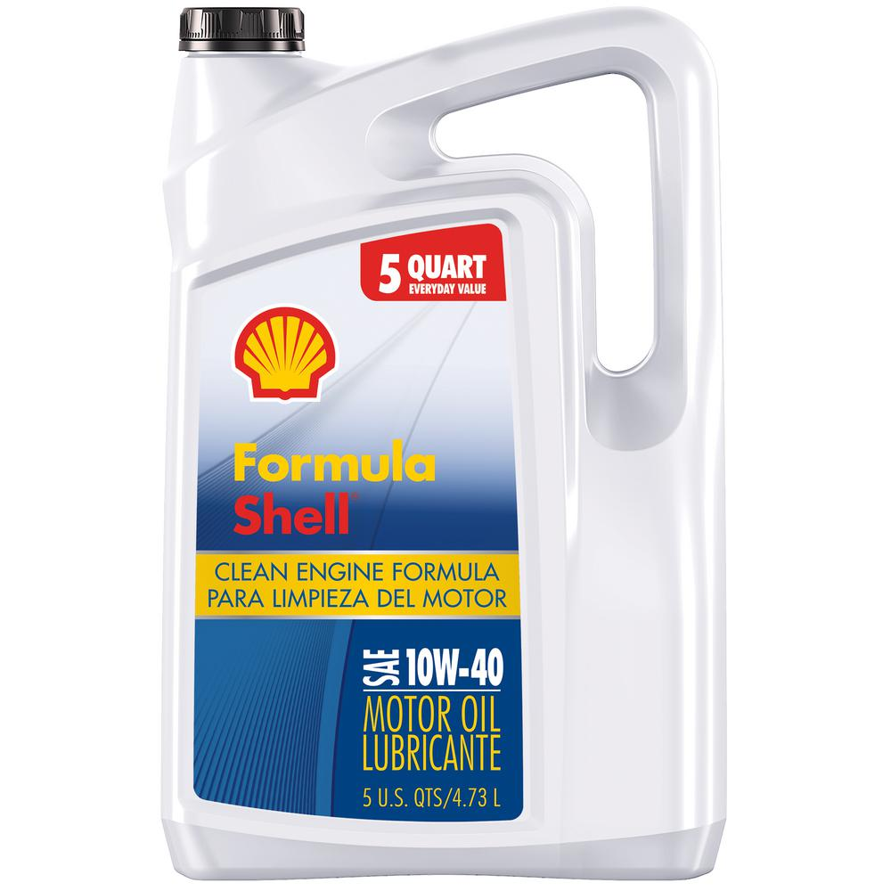 Formula Shell 5 Qt. 10W-40 Clean Engine Formula Conventional Motor Oil