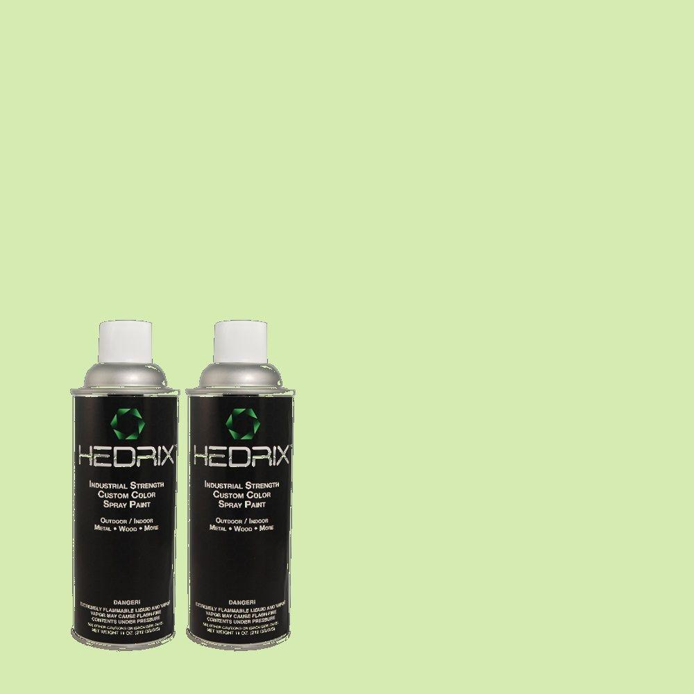 Hedrix 11 oz. Match of 430A-3 Fairway Mist Flat Custom Spray Paint (2-Pack)