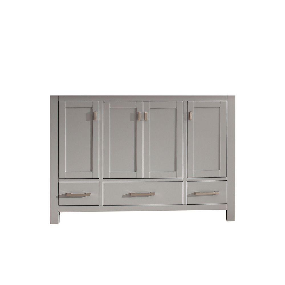 Modero 48 in. Vanity Cabinet Only in Chilled Gray