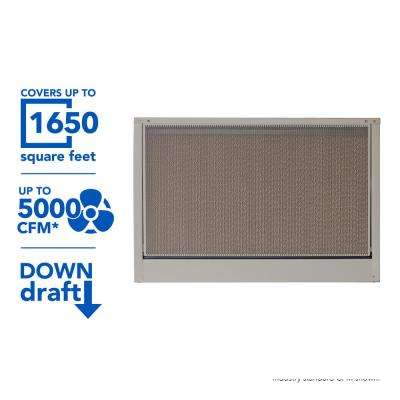 5000 CFM 2-Speed Down-Draft Roof 12 in. Media Evaporative Cooler for 1650 sq. ft. (Motor Not Included)