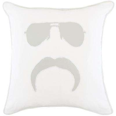American Colors Appliqued Mr. Mustache Pillow