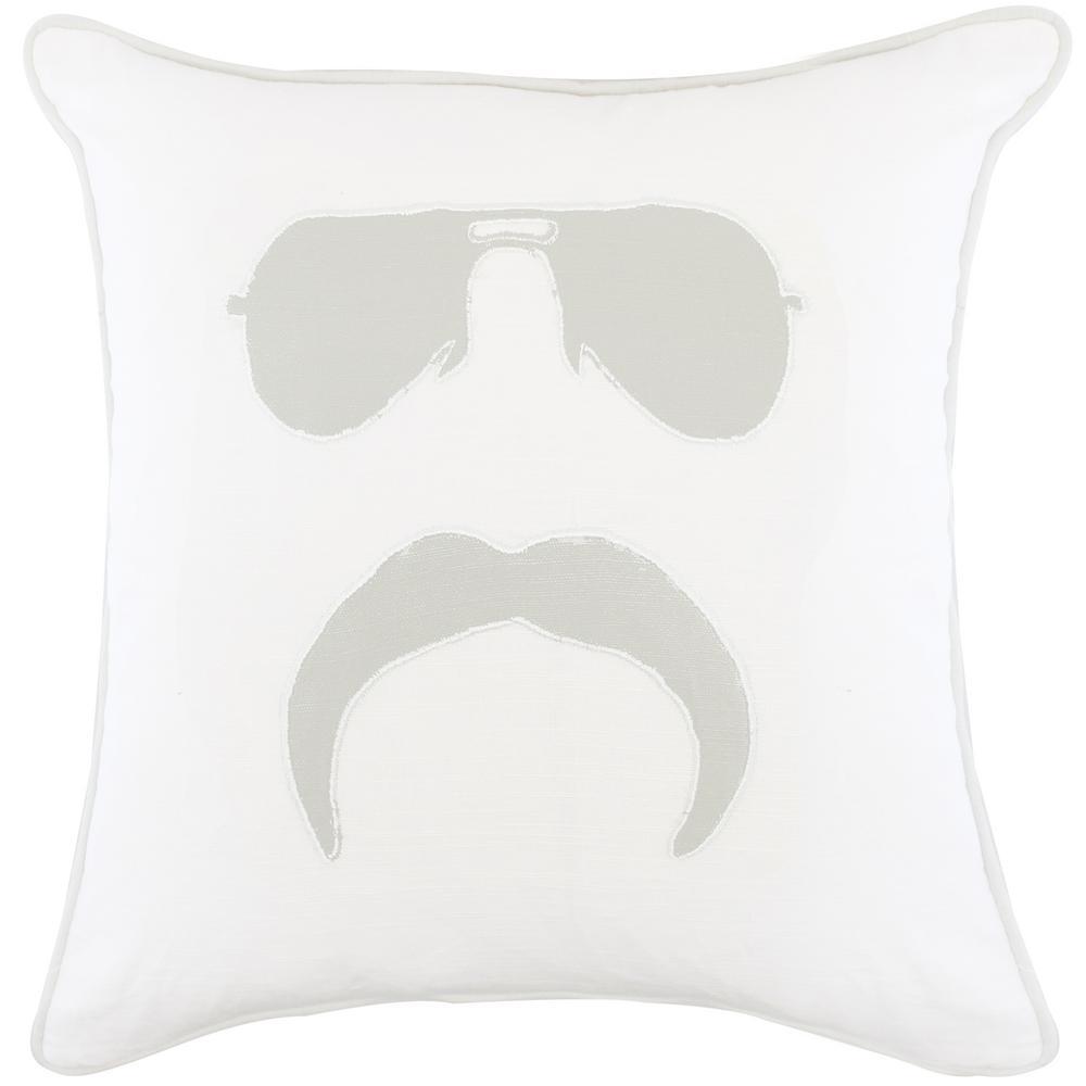 American Colors Appliqued Mr. Mustache Pillow