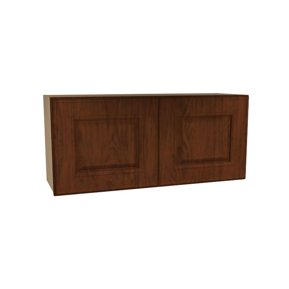 Home Decorators Collection Roxbury Assembled 33x15x12 in. Double Door Wall Kitchen Cabinet in Manganite
