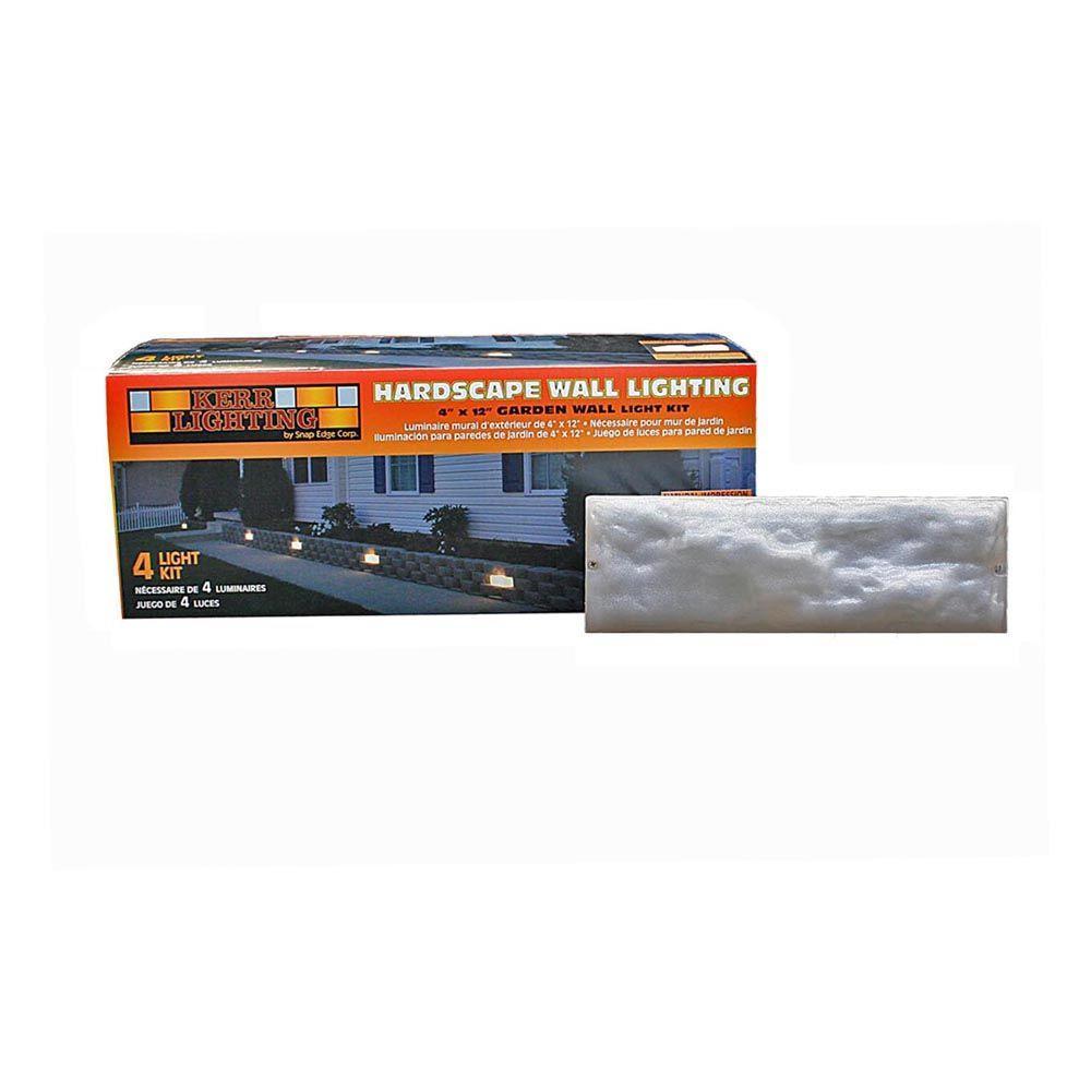 Hampton Bay Low Voltage Black Outdoor Halogen Landscape Path Light And Flood Light Kit With