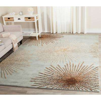 Soho Light Blue/Multi Wool 11 ft. x 15 ft. Area Rug