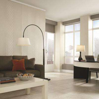 Decorative Wall Panel In Crosshatch Silver