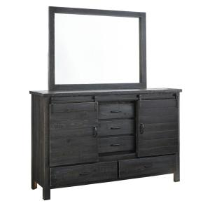 Lucerne 5-Drawer Charcoal Dresser with Mirror
