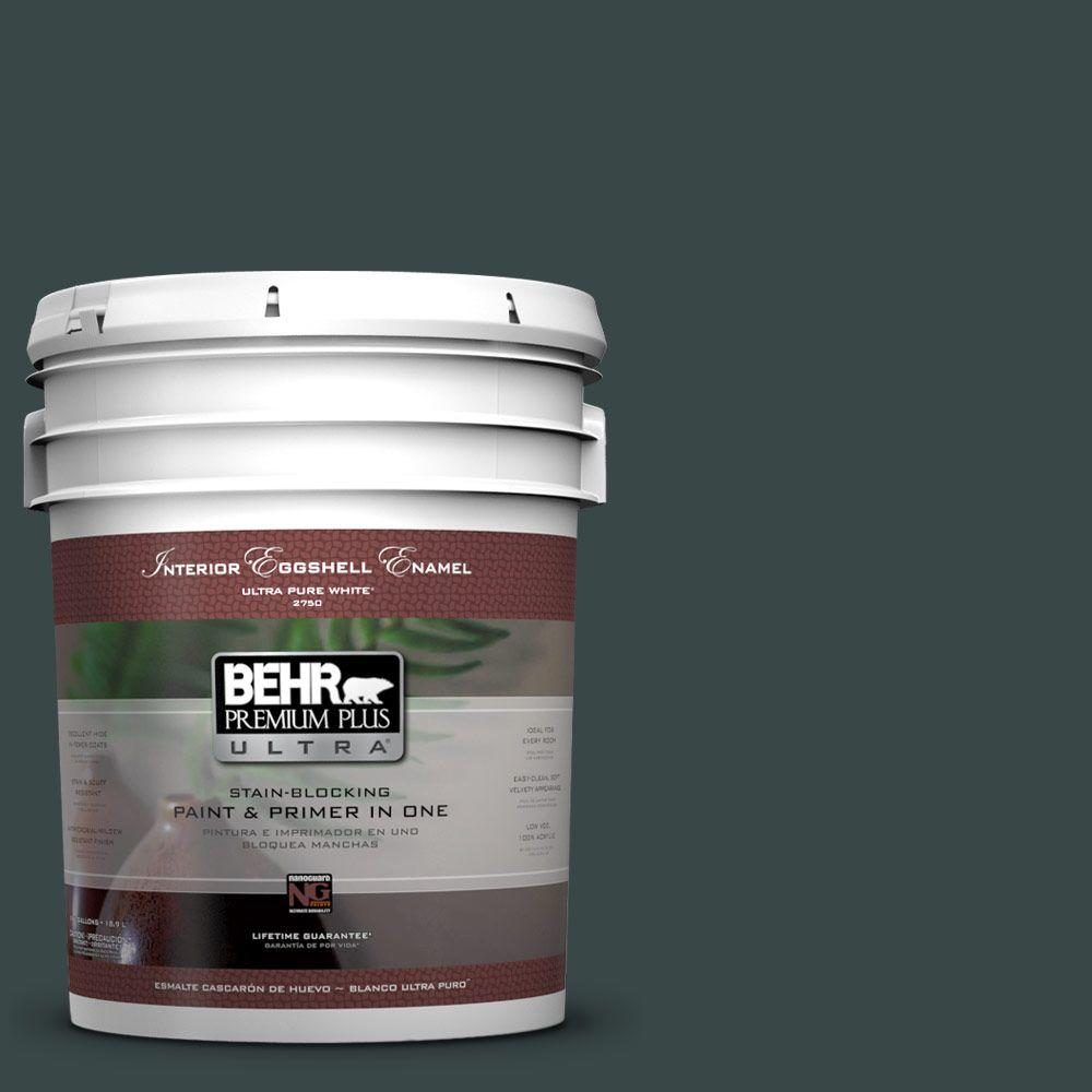 BEHR Premium Plus Ultra 5-gal. #T14-16 Arboretum Eggshell Enamel Interior Paint