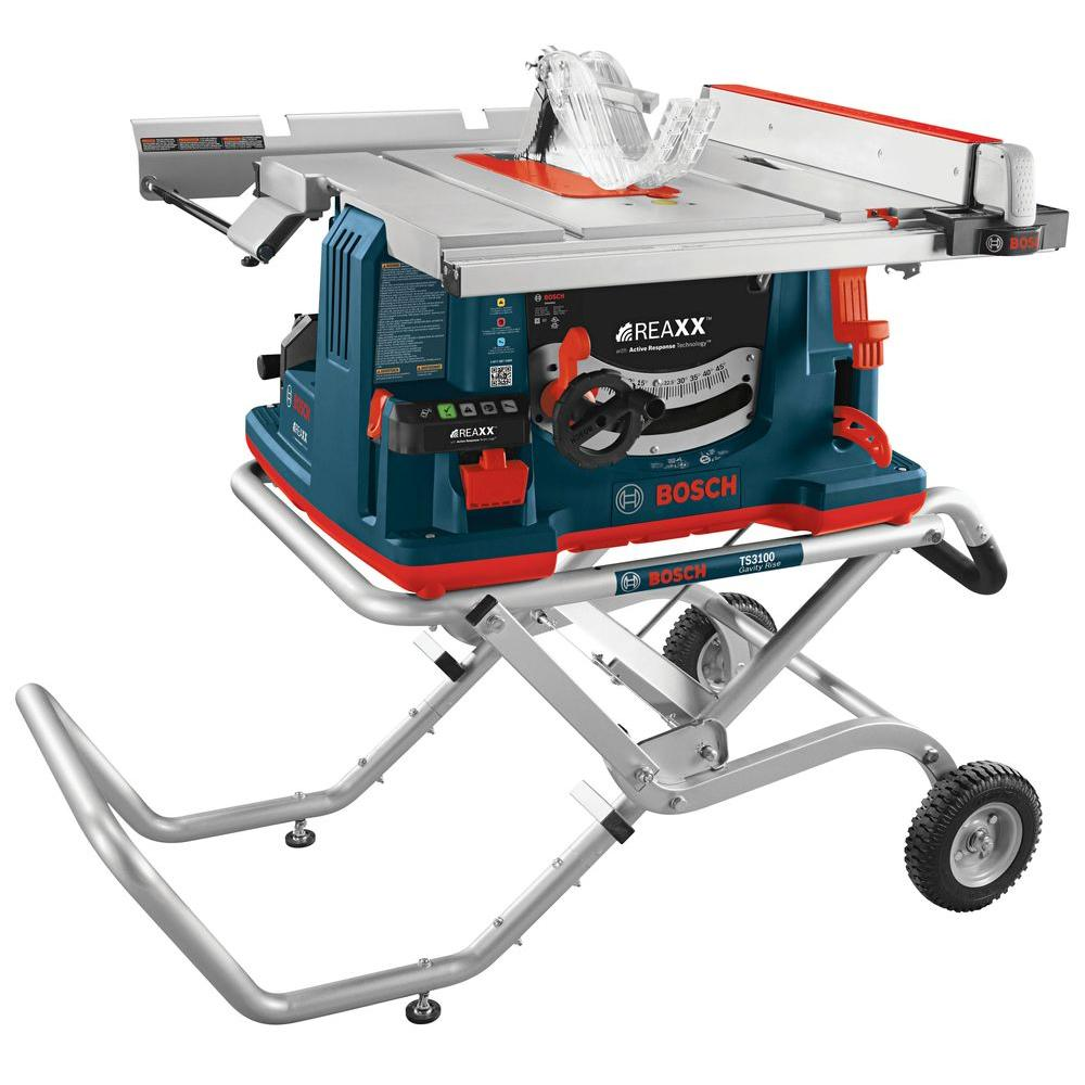 10 in. 15 Amp REAXX Jobsite Table Saw with Active Response