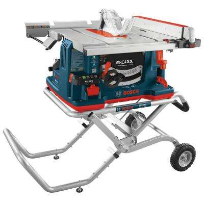 10 in. 15 Amp REAXX Jobsite Table Saw with Active Response Technology