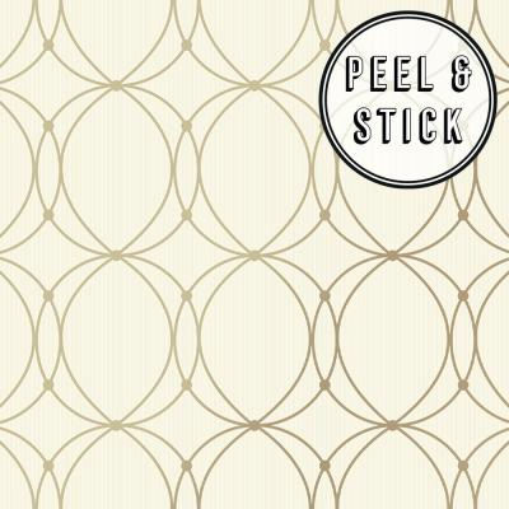 Peelable Vinyl Gold Wallpaper Home Decor The Home Depot
