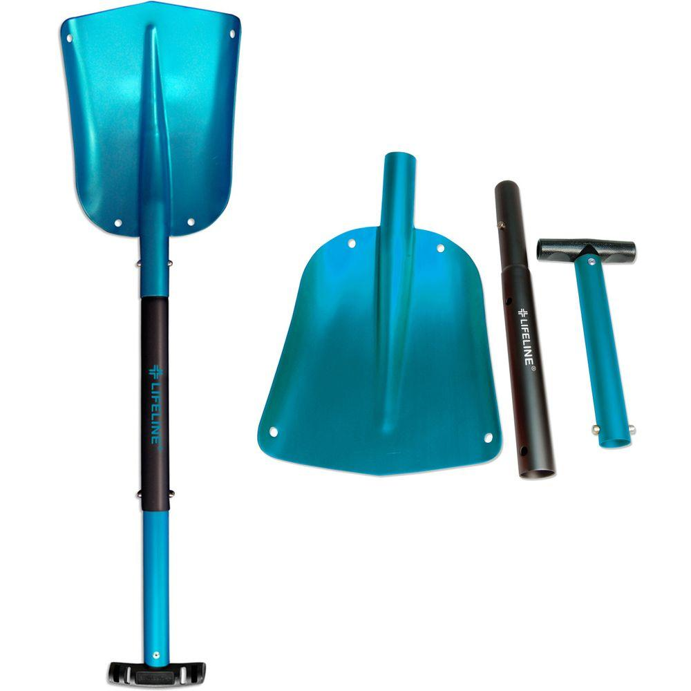 Lifeline 25 in. to 32 in. Adjustable Blue Aluminum Emergency Sport Utility Shovel (2-Pack)
