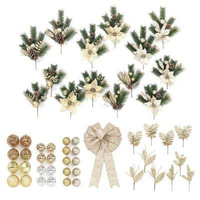 Gold Trim-A-Tree Gift Box (Set of 50-Pieces)
