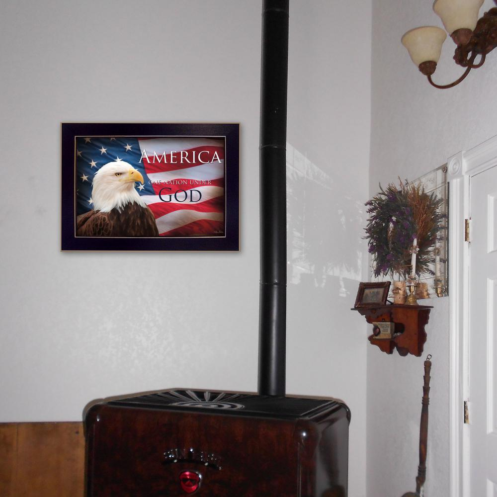 Wall Decor Under 20 : In quot one nation under god flag by lori deiter