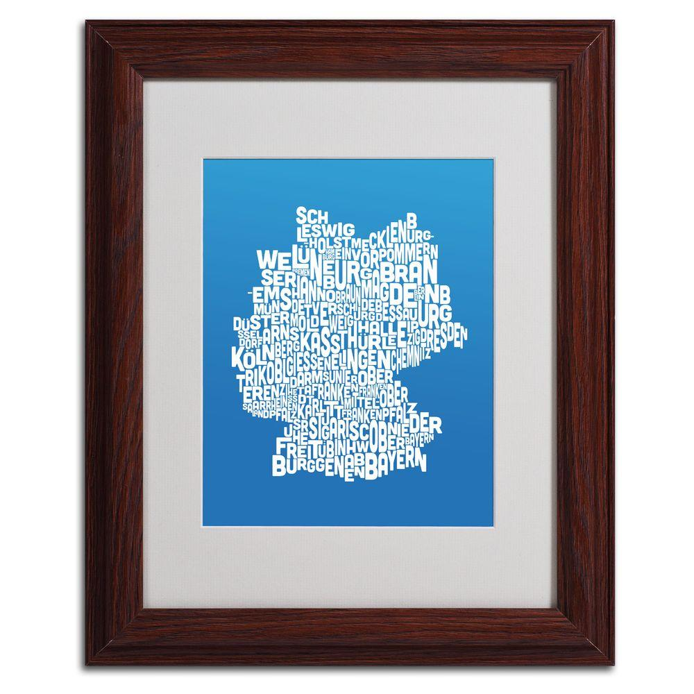 11 in. x 14 in. Germany Regions Map - Summer Matted