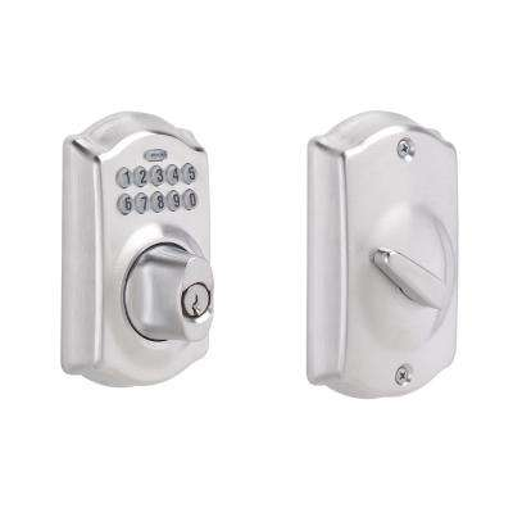 Camelot Satin Chrome Keypad Electronic Door Lock Deadbolt