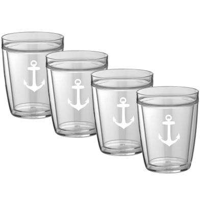 Kasualware Anchor 14 oz. Doublewall Short Tumbler (Set of 4)