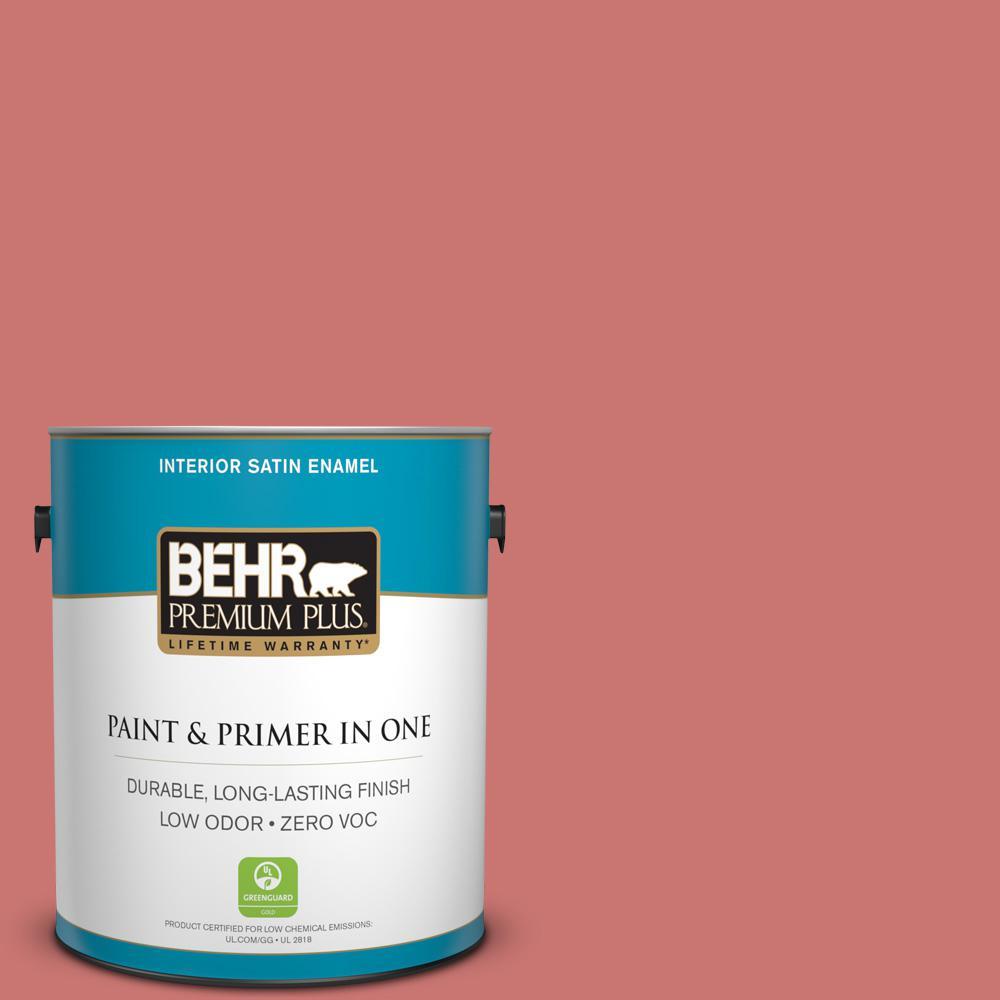 BEHR Premium Plus 1-gal. #160D-5 Lovable Zero VOC Satin Enamel Interior Paint