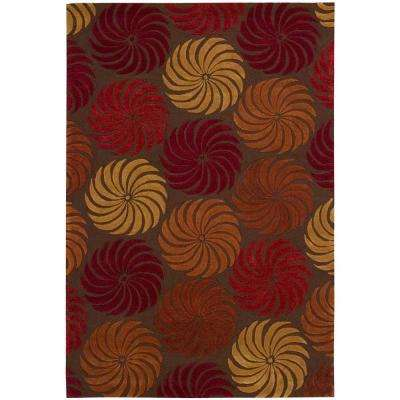 Contour Multicolor 3 ft. 6 in. x 5 ft. 6 in. Area Rug