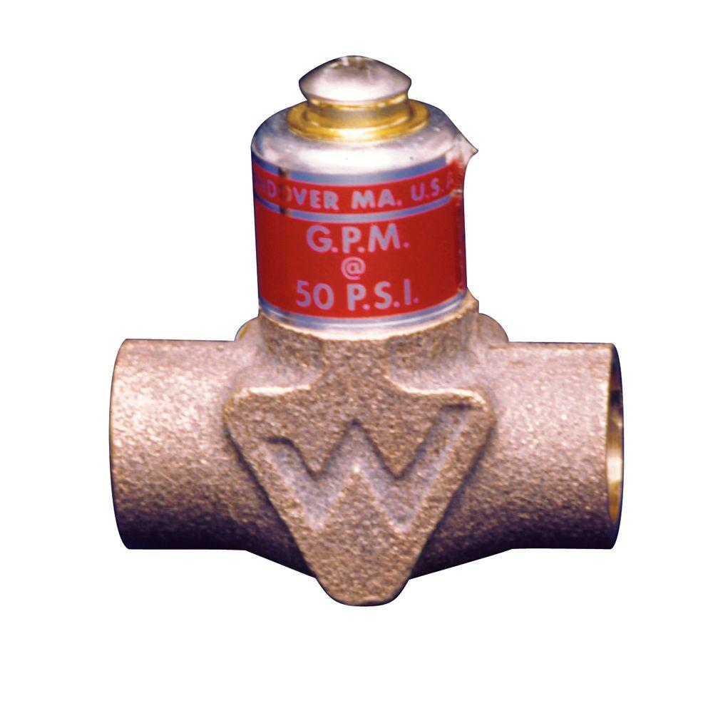 null 1/2 in. Lead Free Brass Flow Control Valve for Tankless Water Heaters