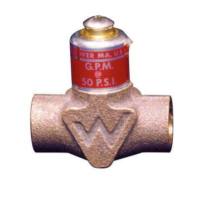 1/2 in. Lead Free Brass Flow Control Valve for Tankless Water Heaters