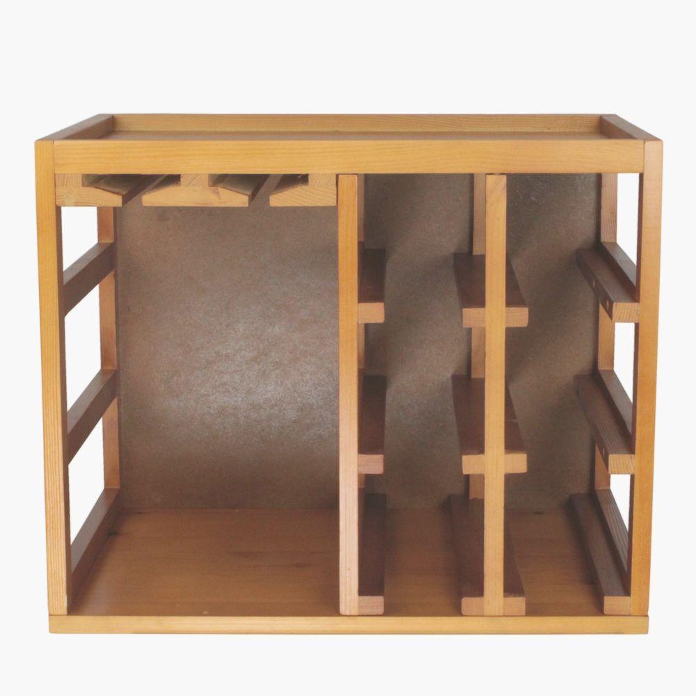 Luxury Oak Wine Rack Cabinet