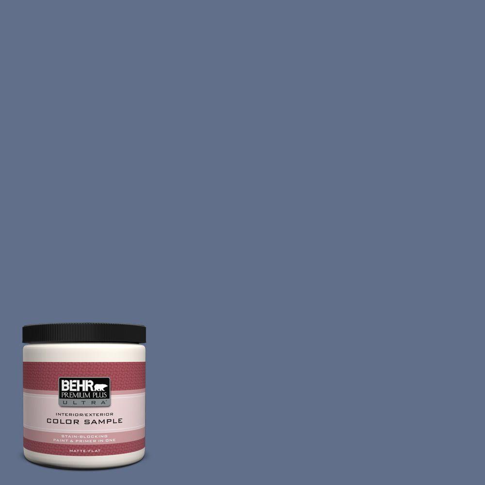600f 6 Atlantic Blue Matte Interior Exterior Paint And Primer In One Sample