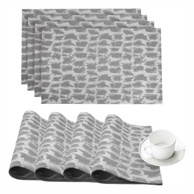 Collage Silver Printed Fabric Placemat (Set of 4)