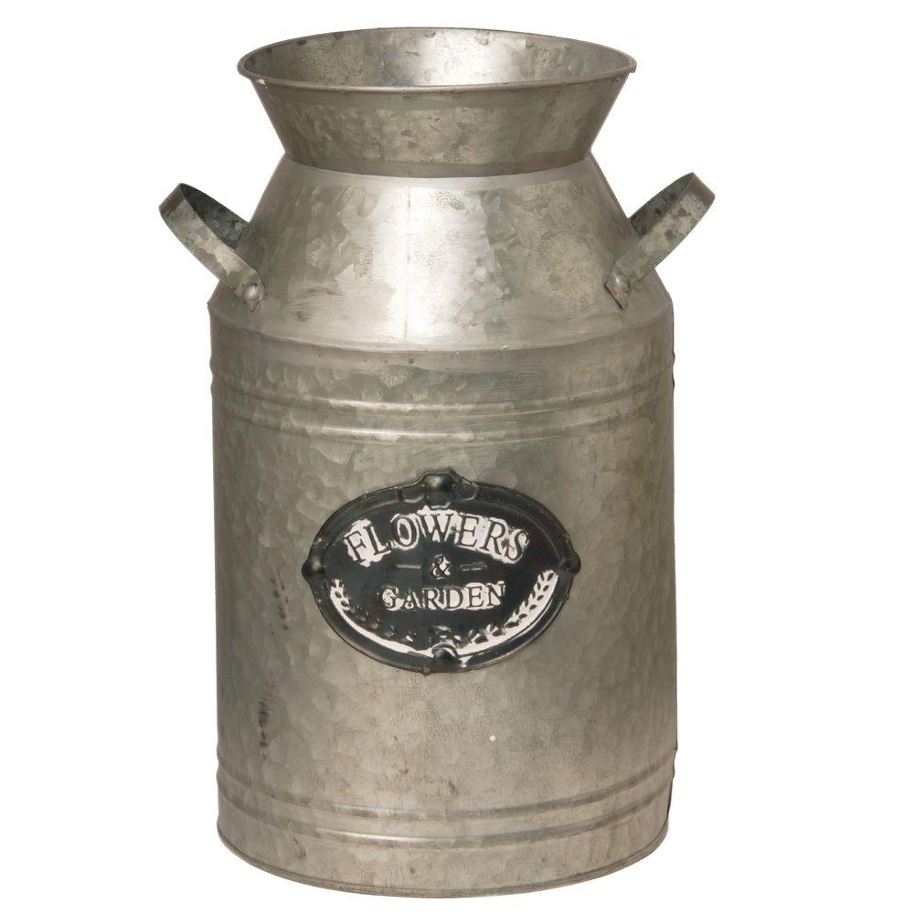 15 in. Garden Accents Antique Milk Can