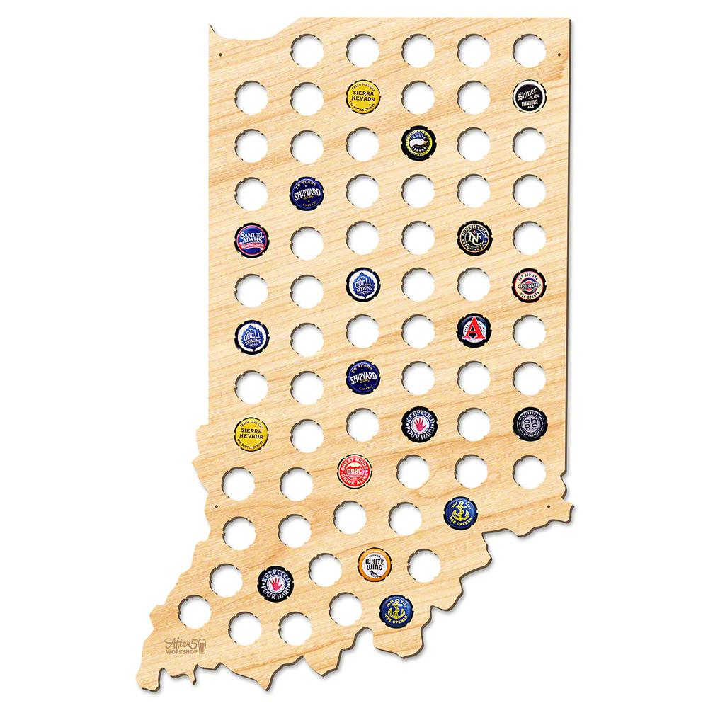 After Workshop In X In Large Indiana Beer Cap Map - Indiana beer cap map