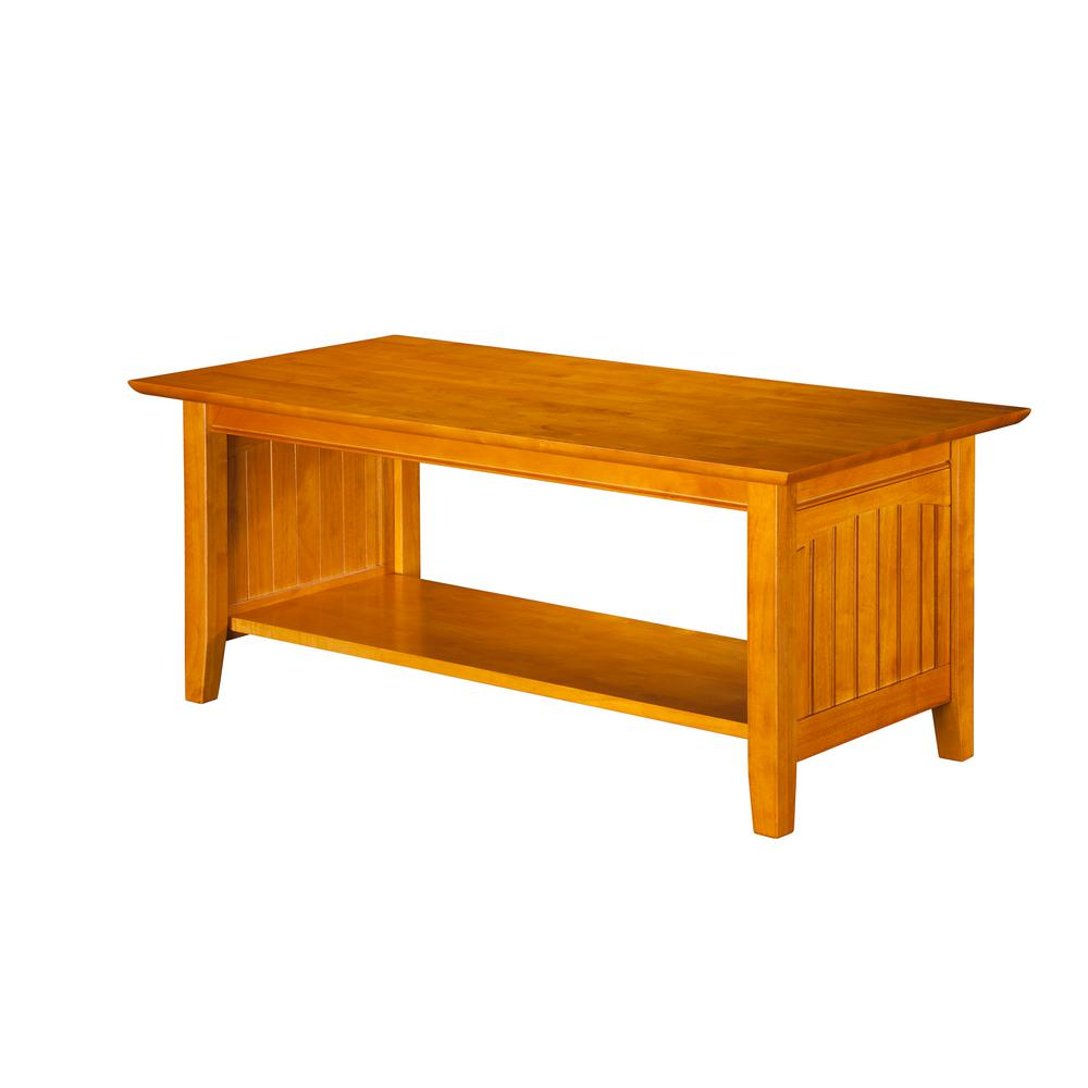 Nantucket caramel coffee table