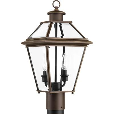 Burlington Collection 2-Light Outdoor Antique Bronze Post Lantern