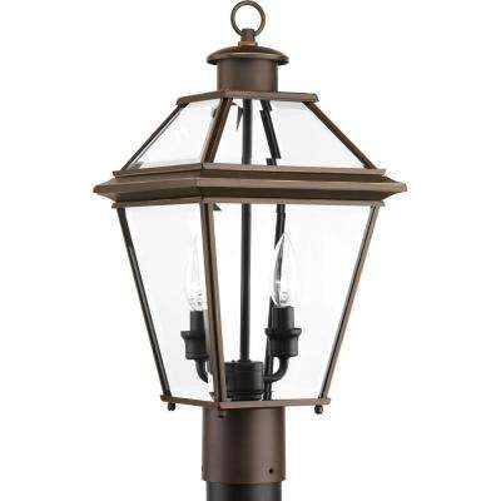 Burlington Collection 2-Light Outdoor Antique Bronze Post Lantern