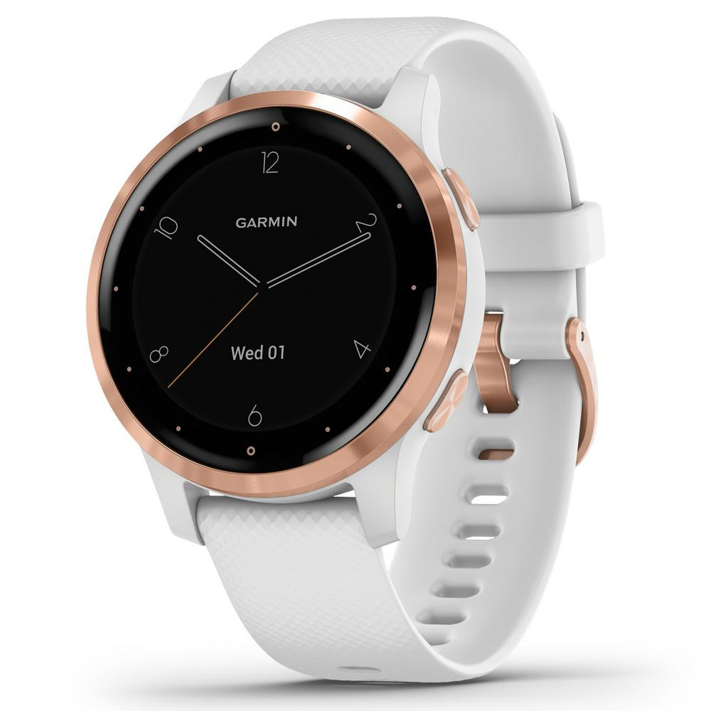Garmin vivoactive 4S GPS Smart Watch in Rose Gold Stainless Steel ...