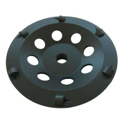 5 in. 6-Segment PCD Grinding Wheel for Coatings Epoxy and Paint