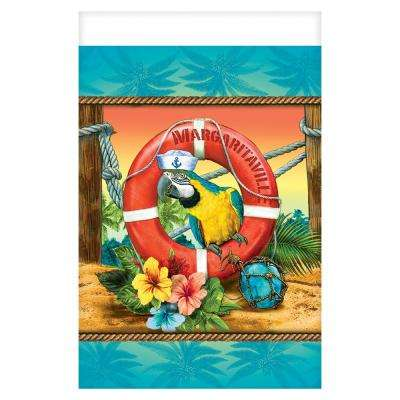 Summer 96 in. x 54 in. Multi-Color Plastic Margaritaville Table Cover (3-Pack)