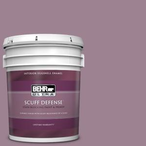 Behr Ultra 5 Gal S110 5 Garden Plum Extra Durable Eggshell Enamel Interior Paint And Primer In One 275405 The Home Depot