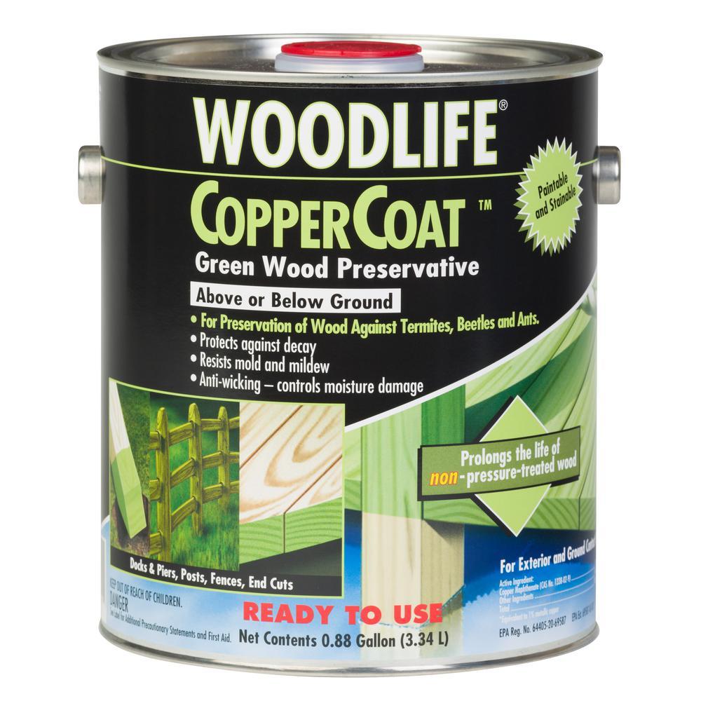 0.88 Gal. Copper Coat Green Below Ground Wood Preservative (Case of 4)