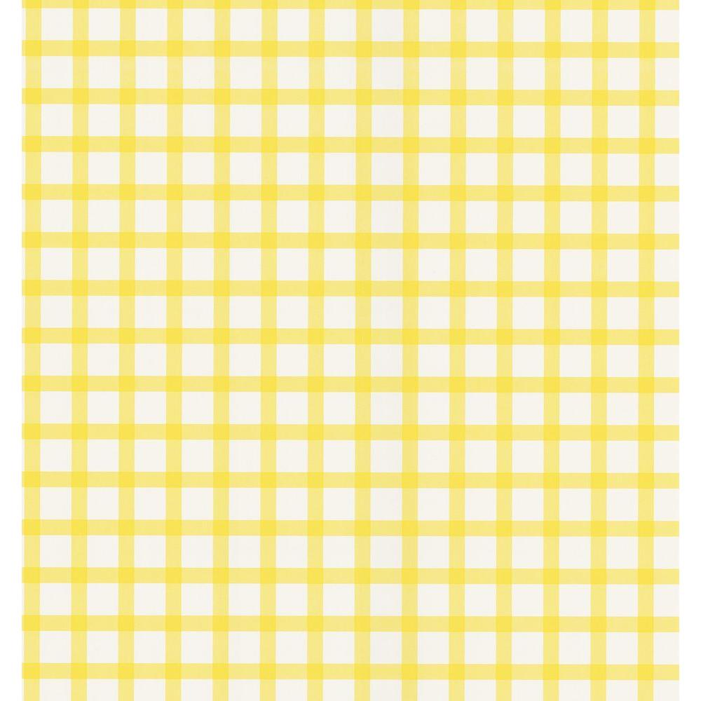 National geographic yellow plaid wallpaper sample for Yellow wallpaper home depot