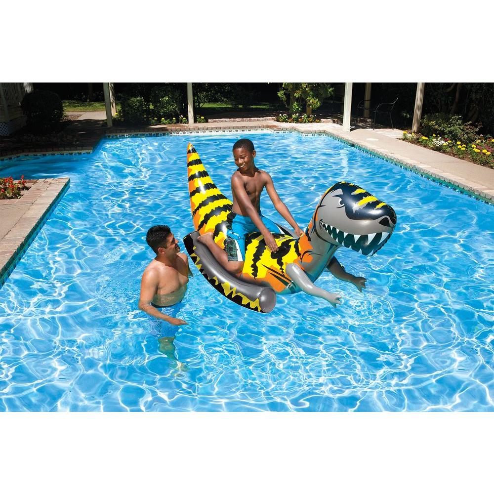 Poolmaster t rex rider 81735 the home depot for Pool floats design raises questions