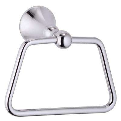 Bannockburn Towel Ring in Chrome