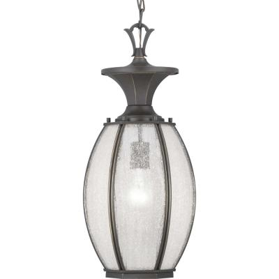 River Place Collection  1-Light Antique Bronze Hanging Lantern