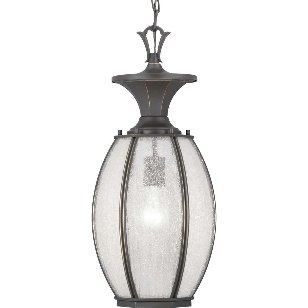 River Place Collection  1-Light Antique Bronze Hanging Lantern