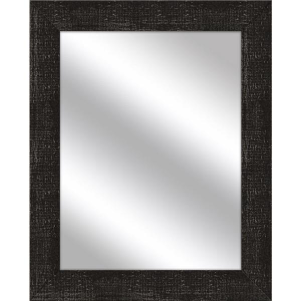 Medium Rectangle Stone Gray Art Deco Mirror (31.5 in. H x 25.5 in. W)