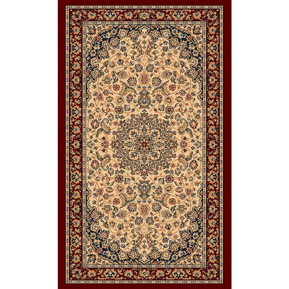 Balta Us Classical Manor Cream Red 2 Ft X 3 Ft Area Rug