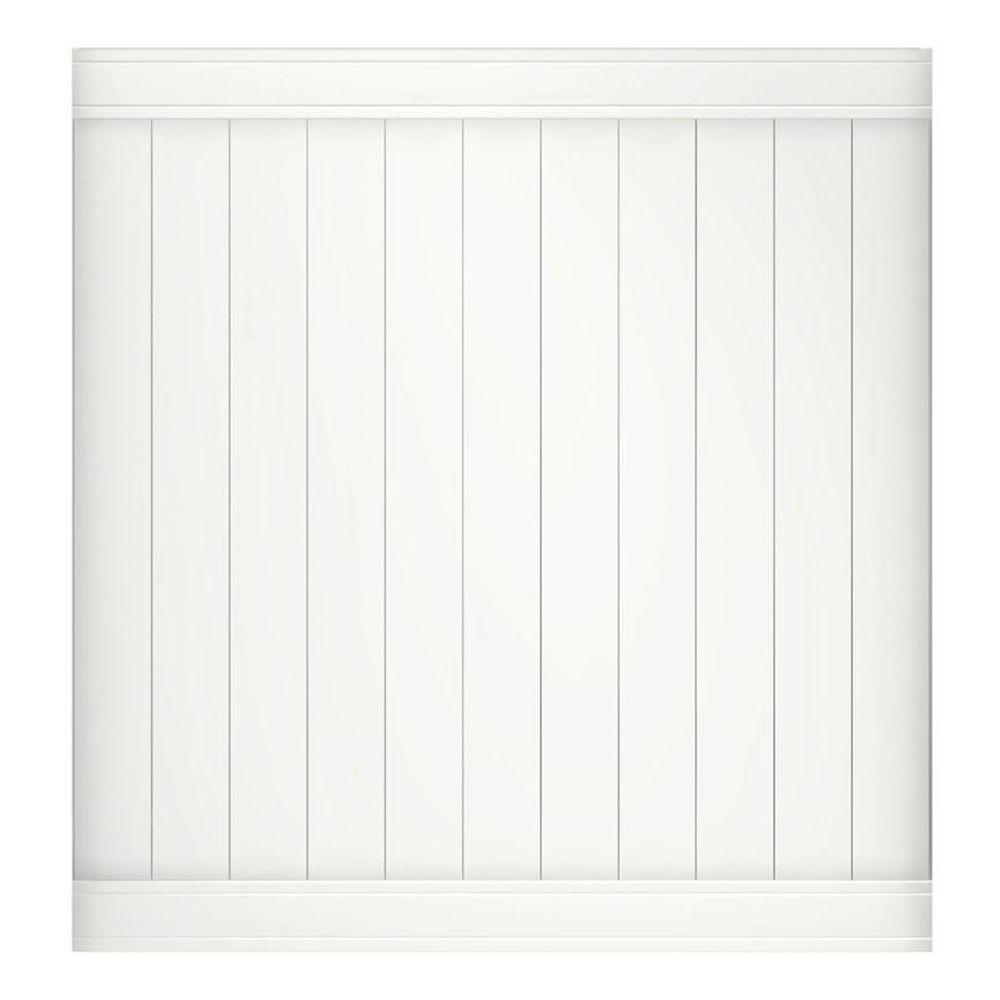 Pro- Series 6 ft. H x 6 ft. W Vinyl Woodbridge Privacy Fence Panel